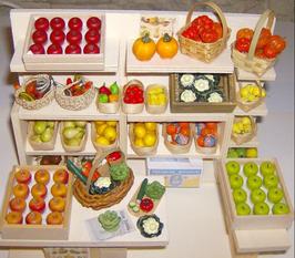 EF016 Obst/Gemüseladen 21 cm breit, 15 cm tief, 15,5 cm hoch