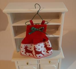 EF082 Weihnachtliches Kinderkleid ca. 7 cm auf Kleiderhaken