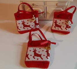 """EF082 Weihnachtliche Tasche """"Glöckchen"""" 4cmB"""