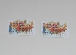 EF082 Adventskalender klein 3x2 cm 2 STÜCK