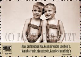 """Postkarte """"Windn und Boign"""""""