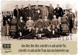 "Postkarte ""Bier, Bier, Bier"""