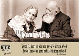 """Klappkarte A6 quer """"Fischerl im Wossa"""""""