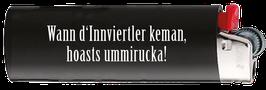 "Feuerzeug BIC schwarz ""Ummirucka!"""