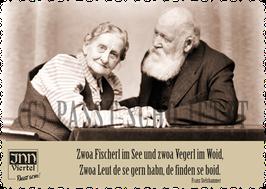 """Postkarte """"Fischerl im Wossa"""""""