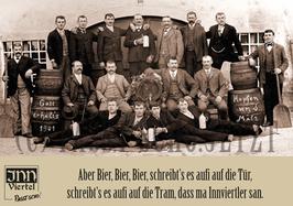 """Magnetsticker A7 """"Bier, Bier, Bier"""""""