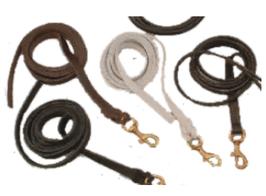 Lederen lijn (zwart) - met handvat