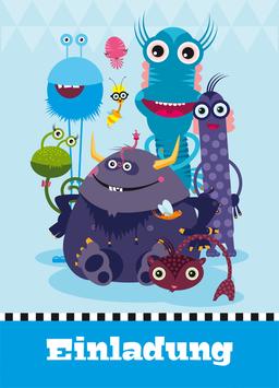 Einladungen zum Kindergeburtstag mit kleinen Monstern