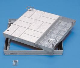 Schachtabdeckung aus Stahl für wählbare Oberfläche
