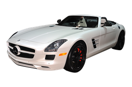 Mercedes SLS AMG Carbon Fiber Engine Compartment Cover in 5 parts