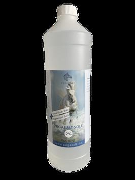 Pegasalt-Sole 2 % mit Salz vom Toten Meer  1000 ml