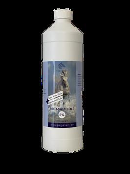 Pegasalt-Sole 5 % mit Salz vom Toten Meer  1000 ml
