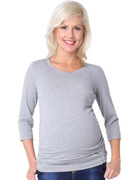"be mama! Maternity Blouse ""Blow"" - Grey"