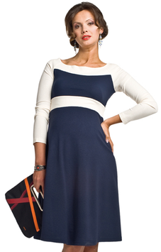 "Torelle Maternity Dress ""Nicole"" - Navy Blue"