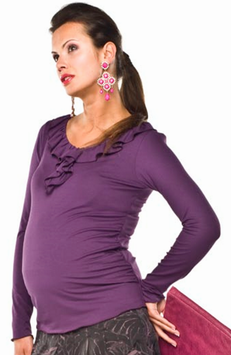 "Torelle Maternity Blouse ""Latina"" - Purple"