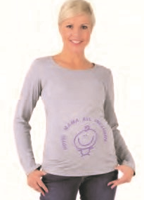 be mama! Maternity Blouse Hotel Mama - Grey