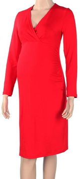 "Gregx Maternity Dress ""Bria"" - Red"
