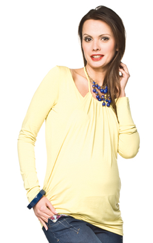 "Torelle Maternity Blouse ""Perla"" - Lime-Yellow"