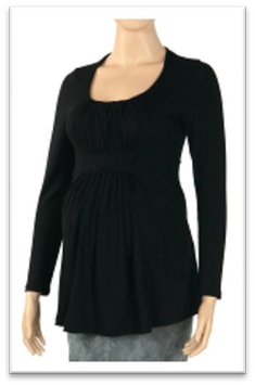 "Gregx Maternity Blouse ""Kada"" - Black"