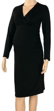 "Gregx Maternity Dress ""Bria"" - Black"