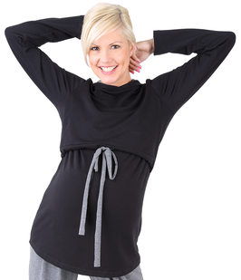 "be mama! Maternity Blouse ""Duo"" - Black"