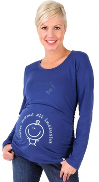 be mama! Maternity Blouse Hotel Mama - Navy Blue