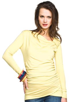 "Torelle Maternity Tunic ""Lugo"" - Lime Yellow"
