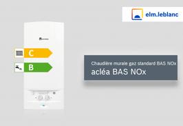Chaudière Bas Nox ELM Leblanc   Aclea 24kw Cheminée et 23KW VMC