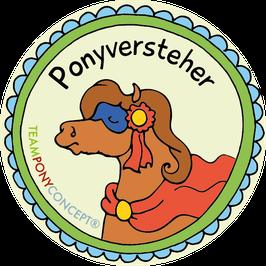"""Kinderset  Abzeichen """"Ponyversteher"""""""