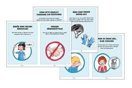 Arbeitskarten und Plakat Hygienschutzkonzept Corona zum Selbstausdrucken