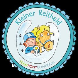"""Kinderset  Abzeichen """"Kleiner Reitheld"""""""