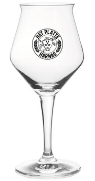 Het Platte Harnas bierglas