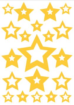 Reflex Sticker Star