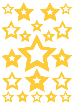 Reflective Sticker Set Star