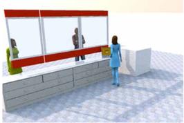 Flexible Corona Hygieneschutzwand & Infektionschutzwand zum Aufhängen