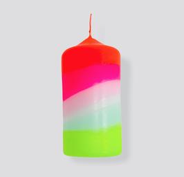 Dip Dye Stumpenkerze Neon