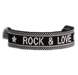 Armband gewebt ROCK & LOVE