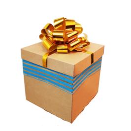 Caja de regalo cubo kraft