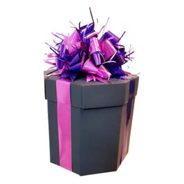 Caja de regalo octagonal negra