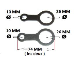 Pièces d'entrainement des lames pour taille haie orientable de machine multifonction ( 2x )