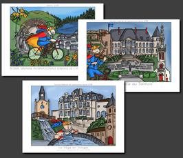 """Réservation série de cartes postales """"parcours"""""""