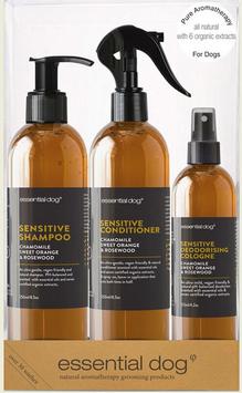 Natural Dog Gift Pack for Sensitive Skin (Chamomile, Sweet Orange & Rosewood)