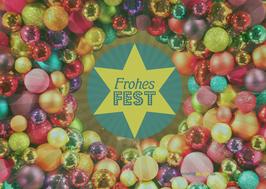 Postkarte Frohes Fest Kranz