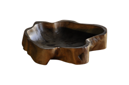 Wooden Bowl - natural form - teak