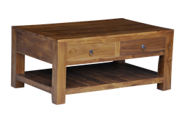 Coffeetable with 2 drawers and clipboard