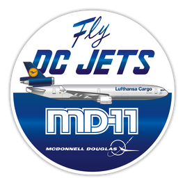 "LUFTHANSA MD-11 ""FLY DC JETS"" Sticker - LIMITIERT"