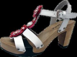 Softclox Sandalette FINETTA Silklack weiss (hazelnut)