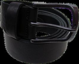 Gürtel schwarz Leder matt