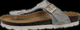 Rohde Zehensteg Sandale geprägte Echse