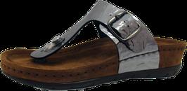 Rohde Zehensteg Sandale silber crashlack